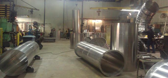 Conduites en acier inoxydable pour système de dépoussiérage d'usine